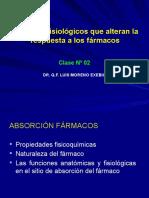CLASE 02 - Factores Fisiologicos Que Alteran La Respuesta 2019