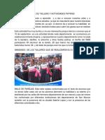 Informe de Tallers y Actividades Patrias