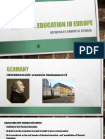 Physical Education in Europe Rae