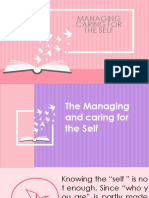 Managing Care for the Self
