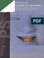 Balandier, Georges. - El poder en escenas [1994].pdf
