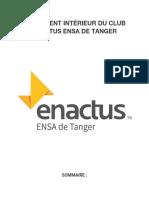 REGLEMENT Interne enactus ENSAT.docx