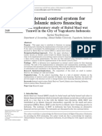 internal control system for islamic micro financing