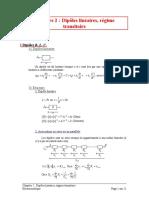 Ch2- Dipoles Linéaires, Régime Transitoire