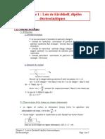 Ch1- Loi de Kirchhoff, Dipoles Électrocinétique