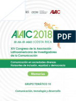 GT 10 - ALAIC 2018