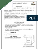 Instalação Cavalete de entrada SAAE