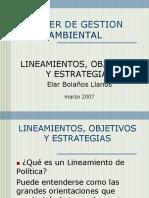 Lineamientos,Objetivos,Estrategias2007