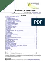 Technicalreportwritinghandout Oeredit 100505085022 Phpapp02