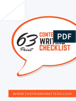 Updated 63 Point Content Writing Checklist