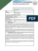 Formato de Inscripción de Proyecto Feria de La Ciencia