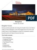 Bangalore Tourist Guide