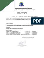 Declaracao Participacao Em Defesa de Dissertação de WALTER de SOUZA FILHO