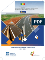 Plan Strategique de Developpement 2017 - 2021 Ageroute -Senegal.compress...
