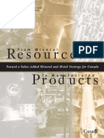 From Mineral Resources to Manufactured Products