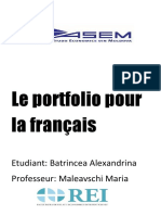 Le Portfolio Pour La Français