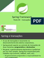 Spring e transações