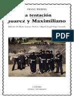 Franz Werfel - La Tentación - Juárez Y Maximiliano