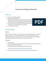 environment and religion lesson plan