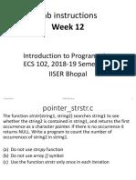 Lab Instructions Week 12