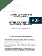 PTFP Oficina de Proyectos de Fabricación Mecánica