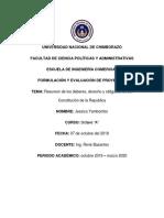 Resumen Constitución de La República