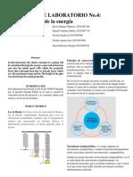 Informe de Laboratorio No.4 Conservacion de La Energia
