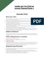 Como Demandar Por via Civil en Mexico-Proceso General