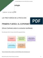 Las Tres Fuerzas de La Psicología _ Historia de La Psicología