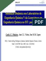 Simulação Dinâmica Nos Laboratórios de Engenharia Química