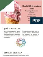 HACCP Helados de fresa