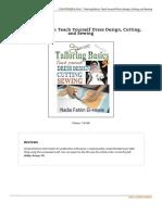 Tailoring Basics Teach Yourself Dress Design Cut eBook