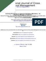 International Journal of Cross Cultural Management 2005 Brislin 87 104