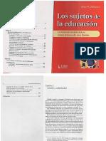 Sujeto de la educación I