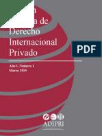 ADIPRI Revista de Derecho Internacional Privado I