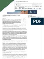 South Korea Shipyard Confident in Crisis - The New York Timesvfd