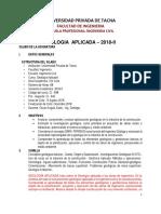 Silabo Geología Aplicada 2018-II