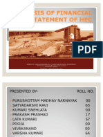 Analysis of Financial Statement of Hec