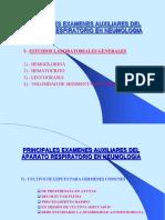 Clase 16. Principales Examenes Auxiliares Del Aparato Respiratorio en Neumologia