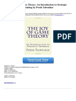The Joy of Game Theory an Introduction to Strategic Thinking 1