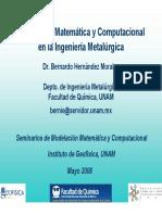 Modelación de matemática, metalúrgica