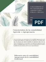 CARACTERISTICAS DE LA CONTABILIDAD AGROPECUARIA