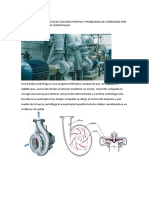 Efecto de La Carga Neta de Succion Positiva y Problemas de Corrosion Por Cavitacion en Bombas Centrifugas