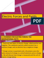Physics 2 Electric Forces and Field