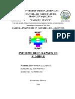 Informe de Durazno en Almibar