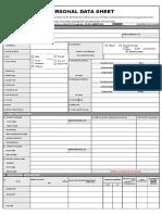 CS Form No 212 Personal Data Sheet