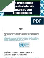 Principales Derechos de Las Personas Con Discapacidad Presentación