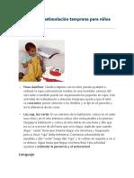 Ejercicios de Estimulación Temprana Para Niños Dependiendo de Su Edad