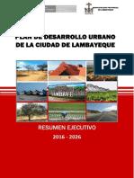 Resumen Ejecutivo PDU Lambayeque Final