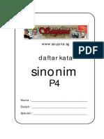 Daftar sinonim